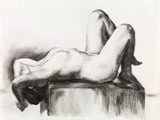 Drawings: Nude on her Back